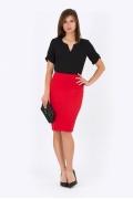Юбка красная Emka Fashion 533-aglaya