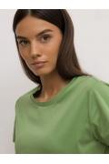 Трикотажная футболка зелёного цвета Emka B2579/leave