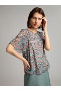 Легкая блуза с цветочным принтом Emka B2513/henson