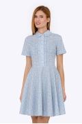 Платье из хлопка с рюшами Emka PL-626/alti