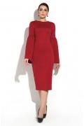 Вишневое платье с широким рукавом Donna Saggia DSP-260-77t