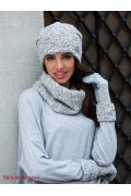Белая меланжевая шапка Kamea Enrica