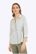 Блузка рубашечного фасона с мелким принтом Emka B2356/evelina