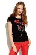 Чёрная блузка с цветочным принтом Zaps Senia