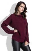 Женский свитер бордового цвета Fimfi I212