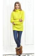 Женский свитер лимонного цвета Andovers Z284