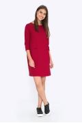 Красное платье с рукавом три четверти Emka PL688/barberry