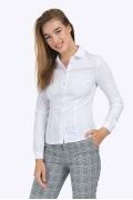 Белая офисная рубашка с длинными рукавами Emka B2264/remmi