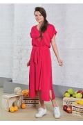 Летнее платье яркого цвета TopDesign A8 078