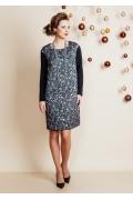 Платье из серебристой ткани TopDesign Festive NB6 21