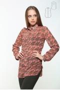 Удлиненная блуза рубашечного кроя Issi 171144