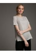 Свободная блуза с разрезами по бокам Emka B2532/fruit