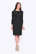 Изящное платье-футляр черного цвета Emka PL696/almaza