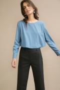 Лёгкая голубая блузка Emka B2461/kakery