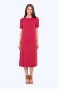 Летнее платье прямого кроя малинового цвета Emka PL-514/mendi