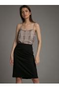 Чёрная юбка со складками Emka S878/milisa