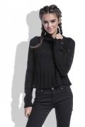 Модный чёрный свитер Fobya F400