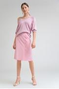 Розовая юбка в клетку Emka S808/gretel