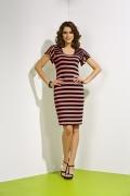 Летнее полосатое платье из крапивы TopDesign A4 005