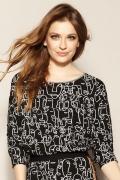 Трикотажная блуза черного цвета с принтом Zaps Lavin