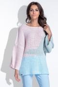 Вязаный трехцветный свитер Fobya F435
