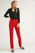 Красные брюки прямого кроя Emka D086/vivid