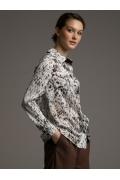 Женская рубашка с акварельным принтом Emka B2412/linavi