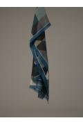 Палантин геометрической расцветки - ромбы Emka A003/postal