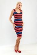 Летнее полосатое платье без рукавов TopDesign A9 092