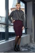 Бордовая юбка Flaibach 009W9