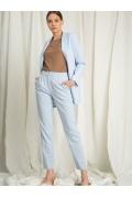 Элегантные брюки голубого цвета Emka D148/melon