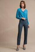 Синие брюки в полоску Emka D154/golubi
