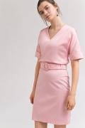 Летняя юбка розового цвета Emka S799/mosholu