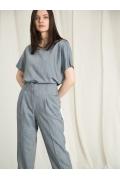 Чуть укороченные прямые брюки Emka D165/elegant