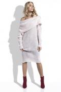 Теплое платье из пряжи с большим воротом Fimfi I224