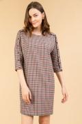 Платье в красно-серой цветовой гамме Emka PL824/ventura