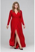 Красное платье с запАхом Donna Saggia DSPB-13-29t