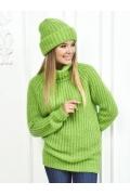 Женский свитер салатного цвета Andovers Z284