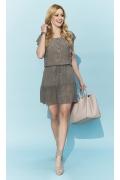 Лёгкое короткое летнее платье на кулиске Zaps Candra
