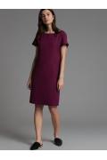 Бордовое платье без подкладки Emka PL631/chicago
