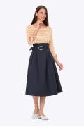 Тёмно-синяя юбка с широким поясом Emka 702/grizelda