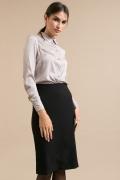 Черная юбка-карандаш без пояса Emka S850/blackberry