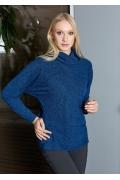 Женский джемпер синего цвета TopDesign B9 020