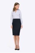 Тёмно-синяя юбка-карандаш в деловом стиле Emka S793/castor