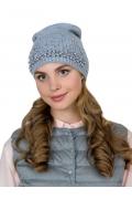 Тонкая женская шапка с бусинами Landre Елизавета