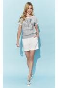 Летняя хлопковая блузка с коротким рукавом Zaps Fran