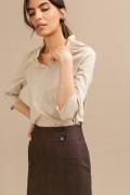 Коричневая юбка в клетку Emka S846/lisbon