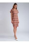 Летнее платье в яркую клетку Emka PL631/sanders