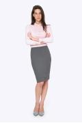 Классическая юбка-карандаш серого цвета Emka S663/panksy
