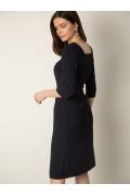 Минималистичное платье тёмно-синего Emka PL1029/beley